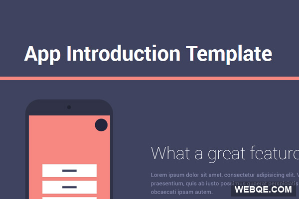 A free and simple HTML5 template for app introduction use