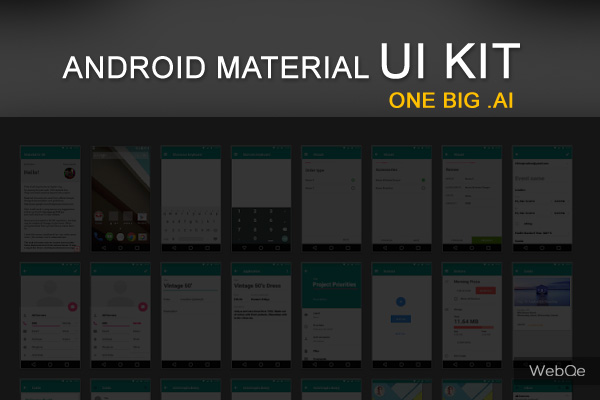 Android OS Material Vector UI Kit .ai Free Download