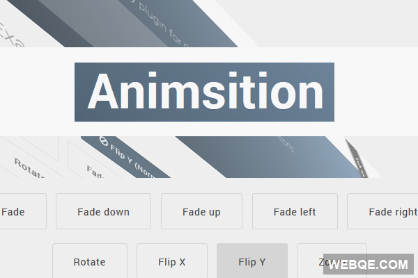 Animsition - Smooth CSS3 page transitions animation with jQuery