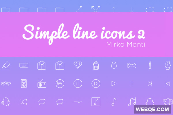 Big pack of simple line vector icon set (113 icons)