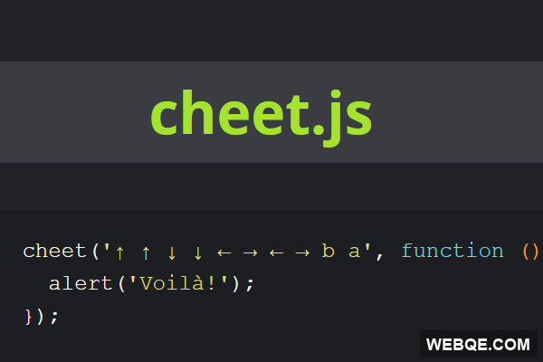 Cheet.js - JavaScript to create Konami Code/hidden password in your app