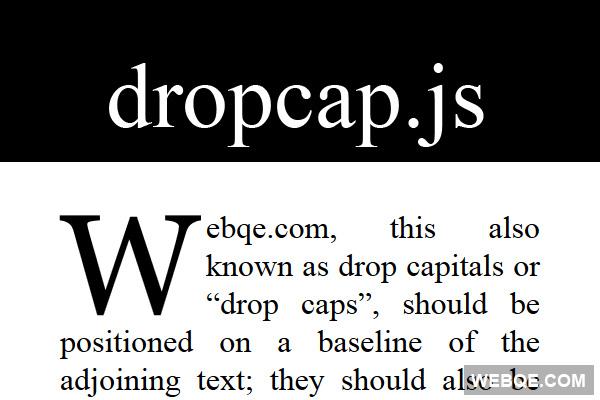 dropcap.js - A new way to make magazines like drop caps