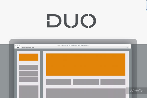 Duo New Mac Web Browser For Responsive Web Development