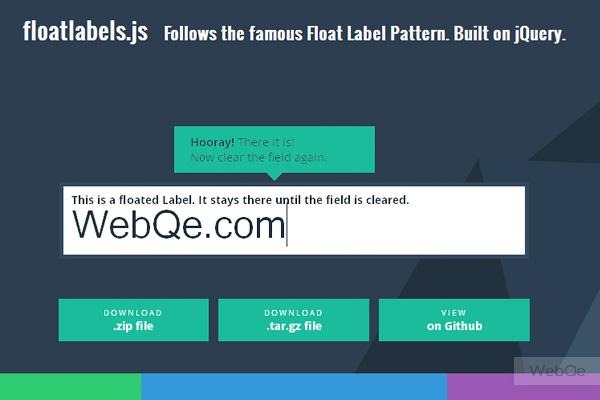 Floatlabelsjs Cool Label Floating Effect Jquery Plugin