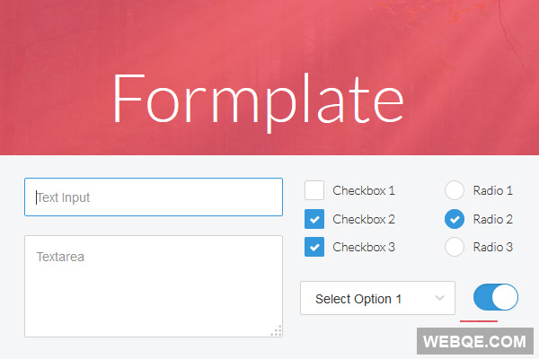 Formplate - A small jQuery plugin to style form elements
