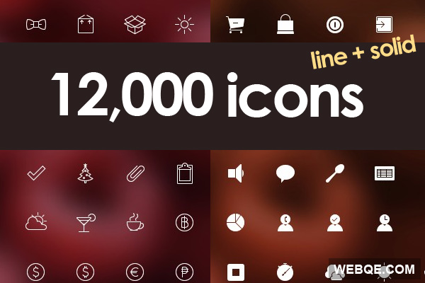 Free ultimate line and solid vector icon set (12000 icons)