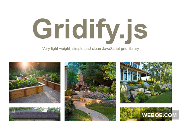gridify.js - A simple no effects HTML grid with JavaScript
