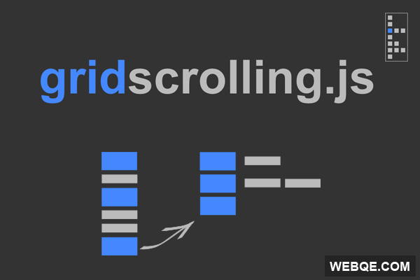 GridScrolling - Turn your content into a clear grid stucture