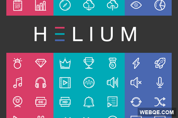 Helium - Free line detailed vector icon set (112 icons)
