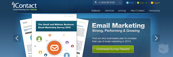 Icontact Best Free Email Marketing Tool Web App Services 2013