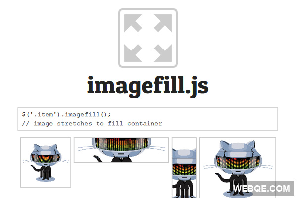 imagefill.js - Make images fill its container with jQuery