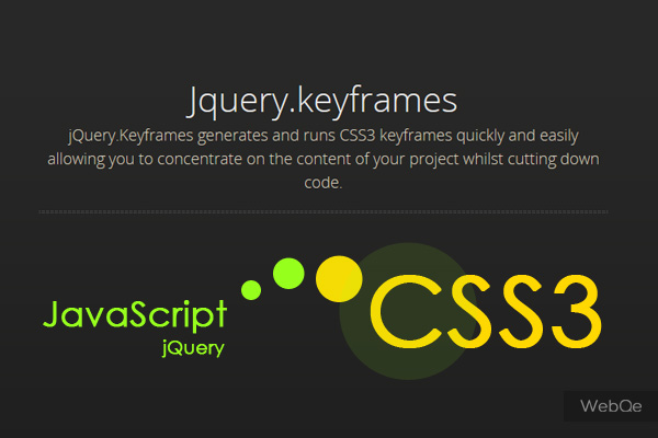 Jquerykeyframes Create And Run Css3 Animations In Js
