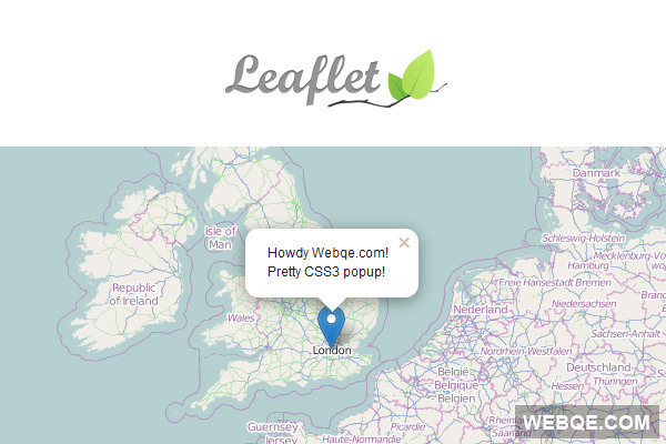 Leaflet - A Modern Interactive Map JavaScript Library