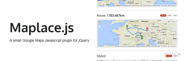 Maplacejs A Great Google Map V3 Jquery Plugin For Web App