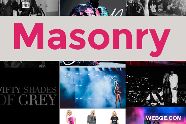 Masonry - A simple JavaScript library to make grid layout