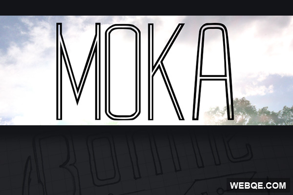Moka - A free thin and line based LED like typeface