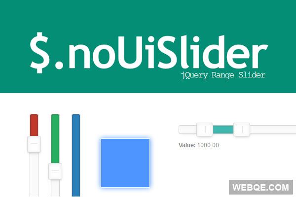 noUiSlider - A touch enabled range slider jQuery plugin