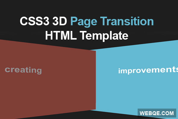 Page Transitions - A smooth transition effect with CSS3