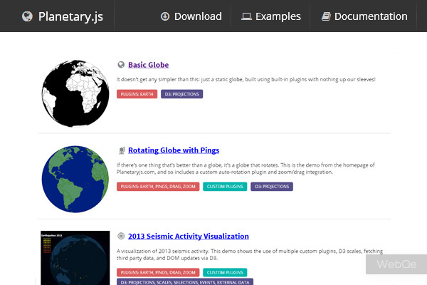 Planetaryjs A Javascript Library To Build Globes In Html5 Canvas
