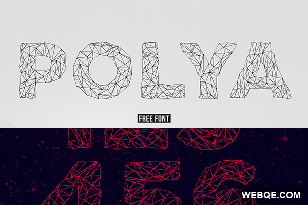 Polya - Low poly shapes font set free download