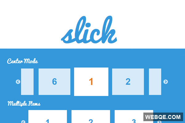 Slick - Powerful responsive touch-enabled image carousel with jQuery