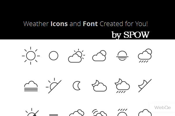 Spow Weather Icon Set 42 Sleek Line Vector Weather Icons