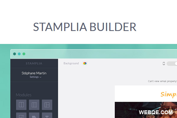 Stamplia Builder - A quick and free email templates editor