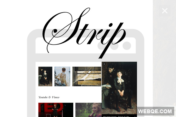 Strip - jQuery responsive lightbox for images and videos