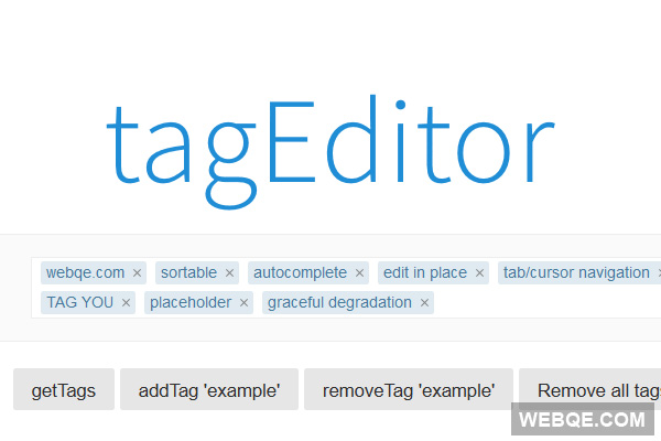 tagEditor - A Facebook like hashtag tag editor with jQuery