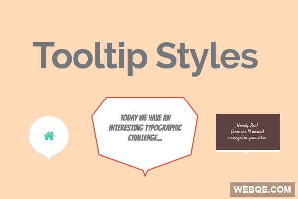 Tooltip Styles - A cool CSS3 styles and effects collection