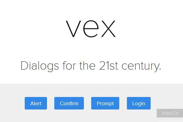 Vex 2014 Modern Alert Popup Box Jquery Dialog Plugin